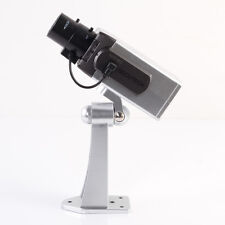 Motorized Motion Detector Fake Dummy Surveillance Security Camera CCTV LED Light