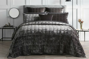SHERIDAN Canfield Bed Cover Super King|King | Queen Bed size in Charcoal