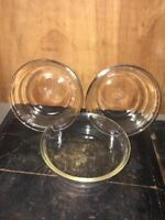 3 Anchor Hocking Fire-King Glass OVENWARE Clear Bowl Dish 15 oz Set Of 3