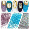 3D Nail Art Decoration 1.5mm Zircon Micro Rhinestones AB Diamante Crystals WHEEL