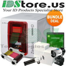 Evolis Zenius Expert Single Side Fire Red Complete Photo Id Card Printer System