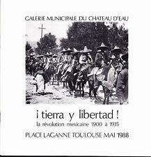 Photographie La Révolution mexicaine catalogue d'exposition Château d'eau