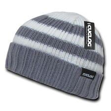 Gray & White Knit Warm Winter Skull Ski Sailor Cuff Beanie Beanies Cap Hat Hats