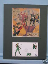 DC Comic Book Hero Green Arrow & First Day Cover