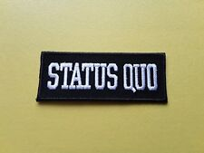 Status Quo Patch Embroidered Iron On Or Sew On Badge