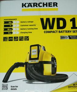Kärcher WD 1 Compact Battery 18V Mehrzwecksauger-Set (1.198-301.0)