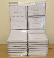 Job lot luxury wedding invitations day evening invites cards+envelops 100 guests