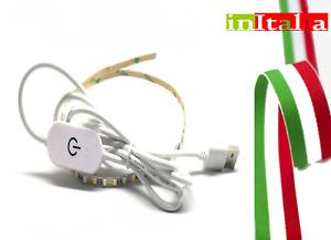 5V 2M  USB LED striscia bianca luce TV retro illuminazione arredo mobili bagno