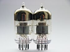 6N23P = E88CC = 6922 = 6DJ8 MatchedPAIR REFLEСTOR Single Wire Silver Shield 1975
