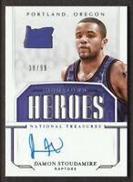 2018-19 National Treasures Basketball Hometown Heroes AUTO Damon Stoudamire /99