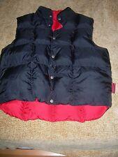 Poivre Blanc Designer Mens MED Puffer VEST DUCK DOWN Reversible Red/Black