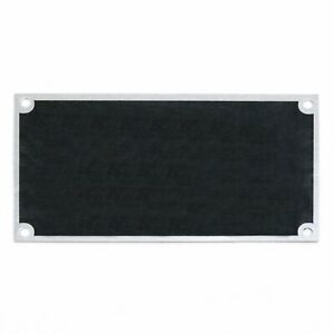 Blank Data ID identification Serial Number Plate Tag 4 x 2.25 Muscle Car Hot Rof