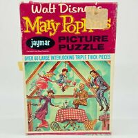 1964 Jaymar Walt Disney's Mary Poppins Tea Party Picture Puzzle Made in USA