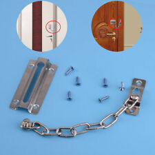 Home Chain Door Safety Guard Latch Security Peep Lock Bolt Silver Cabinet Iron