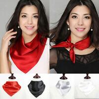 Plain Satin Silk Square Scarf  Neckerchief Neck Wrap Headband 50*50 coat