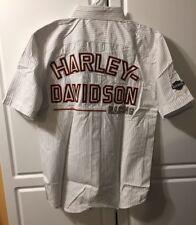 Harley Davidson RACING Men's SMALL S/S EMBROIDERED Mechanics Shirt-NWOT