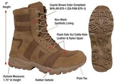 """Coyote Brown AR 670-1 Forced Entry 8"""" Military Tactical Boots 5361 NEW FOR 2016!"""