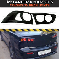 Covers On Rear Lights for Mitsubishi Lancer X 2007-2015 plastic