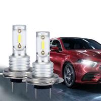 2Pcs H7 LED Headlight Bulbs Conversion Kit Hi/Lo Beam 12-24V 6000K Super Bright