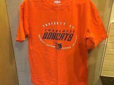 OFFICIAL NBA Charlotte Bobcats Tee Shirt  Sz M Orange NEW W/O TAGS