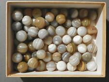 Agate Marbles 2 of 5/8  to 3/4 inch Banded  Bullseye Vintage Natural Gemstones