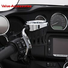 Ciro Chrome Left or Right Perch Mount Drink Holder for Harley & Metric, 50410