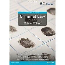 Criminal Law (Longman Law Series), Good Condition Book, Wilson, William, ISBN 97