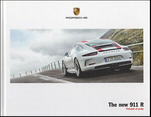 brochure 2016 PORSCHE 911 R !!!  HARD COVER _ ENGLISH TEXT ____________________