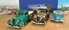 Lot of 3 Solido die cast: 1934 Ford Cabriolet, 1936 Ford Pickup, 1955 Eldorado