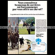 GENDARMERIE A CHEVAL BELGE 1978 - Pub / Publicité / Original Advert Ad #A724