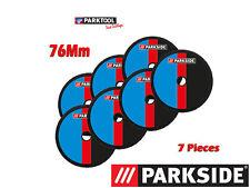 PARKSIDE® 7 DISQUES METAL 76mm pour BOSCH GWS 10,8/12V-76 et Parkside PWSA 12.
