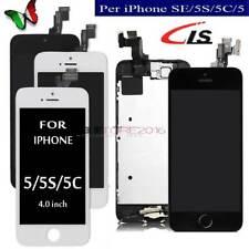 DISPLAY LCD TOUCH SCREEN PER IPHONE 5SE 5C 5G SCHERMO VETRO +HOME BUTTON CAMERA