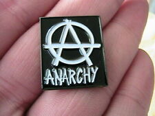 ANARCHY MOTORCYCLE ANARCHIST BIKER PIN BADGE MOTORBIKE HELLS ANGEL OUTLAW