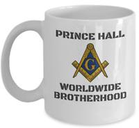 Masonic coffee mug - Prince Hall Worldwide Brotherhood - Freemason noble symbol