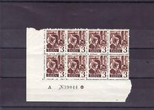 Baden Mi. Nr. 2, 8er Block mit Bogennummer