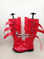 ONE PIECE Perona Princess Red Long Cosplay Shoes Boots X002