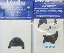 Yahu Models YMA2404 1/24 PE Messerschmitt Bf 109G instrument panel Trumpeter