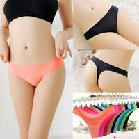 Women Seamless Invisible Underwear Soft Thongs Briefs Lingerie G-string Panties