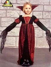 Girls Vampiress Deluxe Halloween Costume Age 10 11 12 Vampire Fancy Dress Up