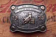 Vintage Vogt Sterling Silver 10K Gold Cowgirl Rodeo Western Trophy Belt Buckle