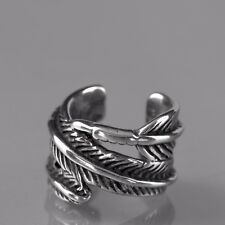 silver tree leaves ear cuff clip on 316l stainless steel single earring