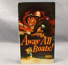 Away All Boats VHS MCA Home Video South Pacific WWII Navy Japan Kamikaze 1956