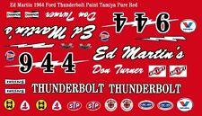 #944 Don Turner Ed Martin's  Thunderbolt 1/64th HO Scale Slot Car Decals NHRA