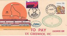 Stamp Australia Tarcoola PSE 1985 Creswick parcels special cachet overprint