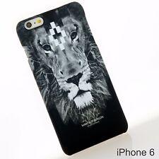 Marcelo Burlon Graphic Lion Print Black TPU Hard Case Cover Skin iPhone 6 6s