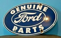 VINTAGE FORD MOTOR CO PORCELAIN GAS SERVICE AUTOMOTIVE SALES DEALERSHIP SIGN