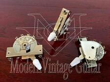 3 MVG KD5WAY Vintage Guitar 5 Way White Lever Switch Strat  Side Mounted Spring