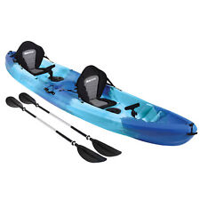 Sit On Top KAYAK DOUBLE 2+1 Family Ocean River Sea Fishing Touring Tandem BLUE