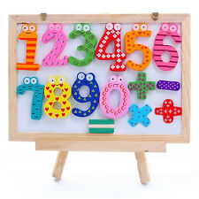 15PCS Large Number Cartoon Educational Toy Wooden Fridge Magnet For Baby Set