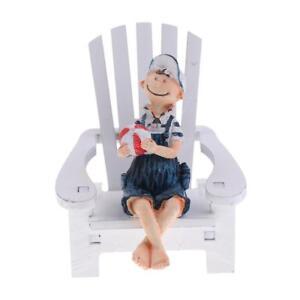 Nautical Mini Beach Chair BoyDecorative Wooden Mediterranean Style Art Craft